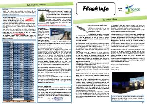 FLASH INFO – Janvier 2021